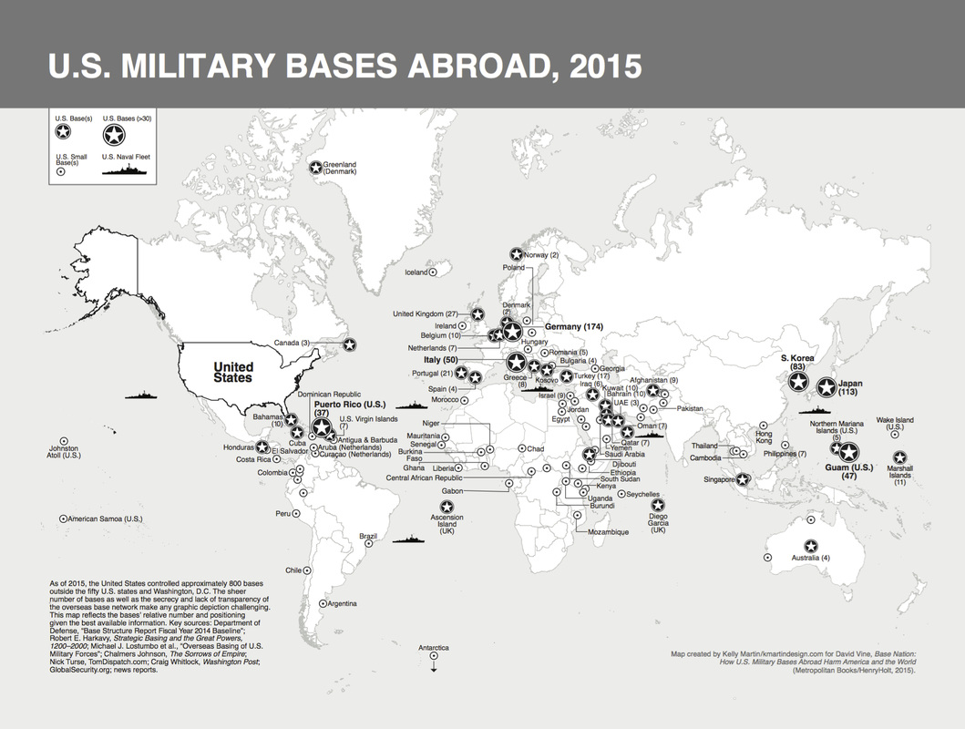 17 Maps of U.S. Military Bases Abroad from